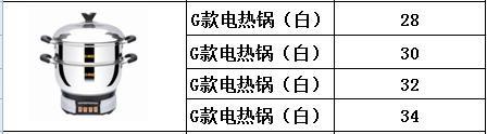 G款电热锅(白)