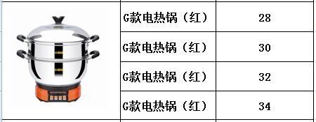 G款电热锅(红)